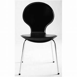 Chaise Noire Design : chaise design katy noire ~ Teatrodelosmanantiales.com Idées de Décoration