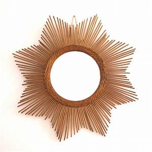 Miroir En Rotin : miroir soleil en rotin vintage ~ Nature-et-papiers.com Idées de Décoration