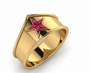 Symbolic amazonian princess jewelry wonder woman ring for Wonder woman wedding ring