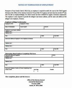 Free Sample Letter Of Termination Of Employment Contract Free 7 Termination Of Employment Samples In Ms Word Pdf