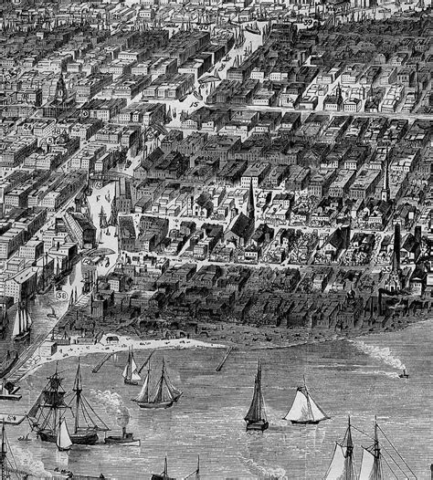 Chicago Bird'seye View Before The Great Fire Of 1871