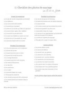 check liste mariage liste des photos du mariage la checklist des indispensables la robe de juliette