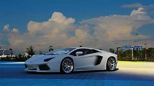 Lamborghini White Beautiful New Car Concept HD