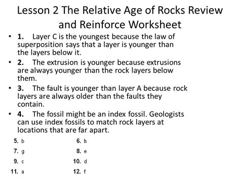 rock worksheet answer key worksheets for all