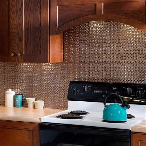 decorative kitchen backsplash fasade 18 in x 24 in terrain pvc decorative tile backsplash in brushed nickel b67 29 the