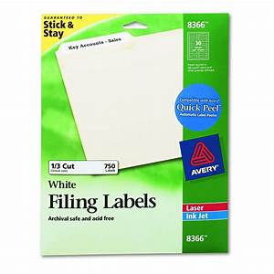 avery dennison file folder label white inkjet ffldr With avery file folder labels 8366