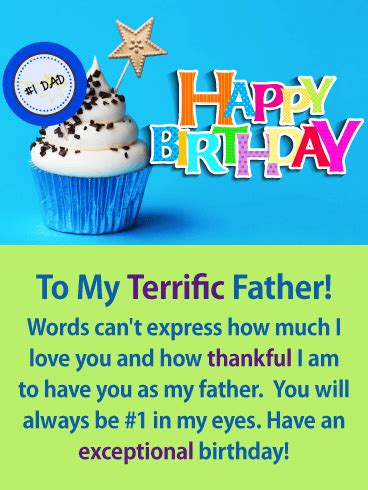 Credit card numbers are not randomly assigned. Show your father where he ranks in your life with this #1 Dad birthday card! It creatively lets ...