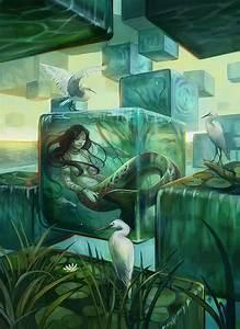 Digital Art by Julie Dillon - nenuno creative  Naiad