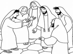 Jesus Heals Coloring Pages
