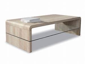 Table Basse Bois Foncé : table basse pas cher marty ~ Teatrodelosmanantiales.com Idées de Décoration
