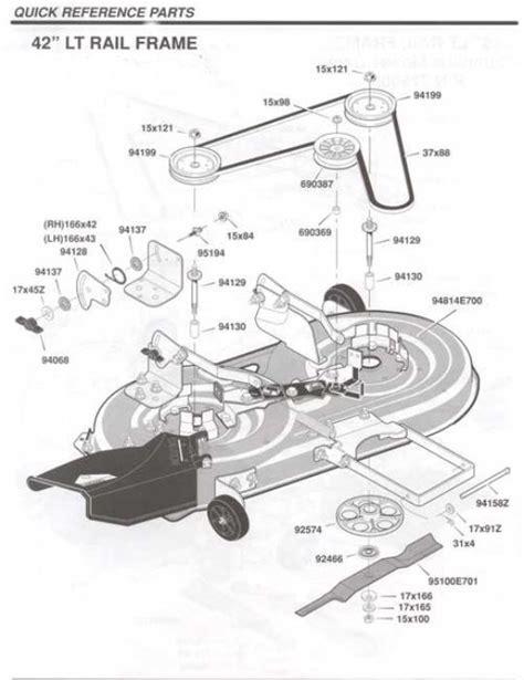 Murray Mower Deck Diagram by Murray Deck Parts Canada