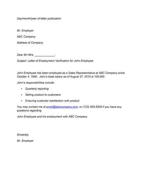 proof  employment letters verification forms samples