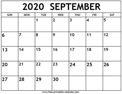 september  calendar  printable calendarcom