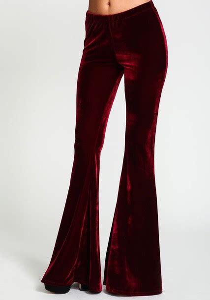 Pants velvet pants fall pants velvet flare bell bottoms wide-leg pants fall outfits ...