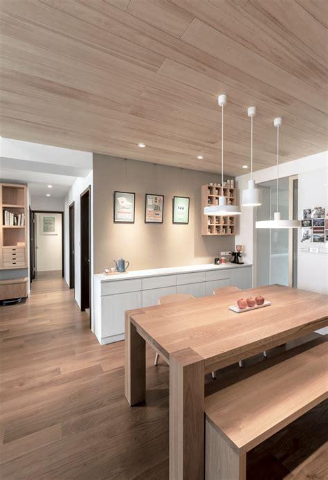 modern apartment celebrates    natural wood
