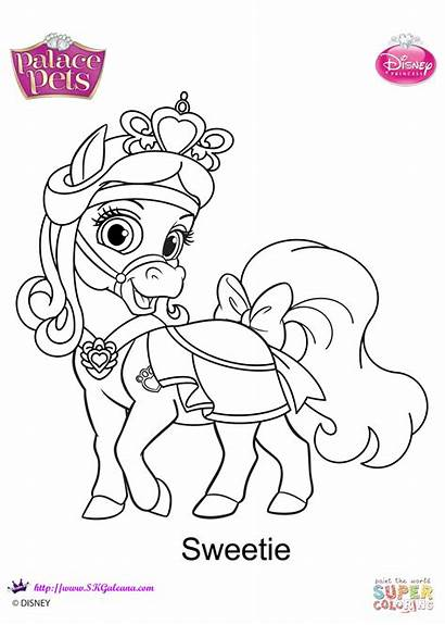 Pets Palace Coloring Sweetie Pages Printable Disney