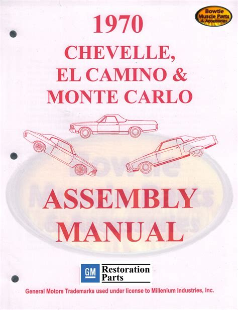 Chevelle Camino Monte Carlo Factory Assembly