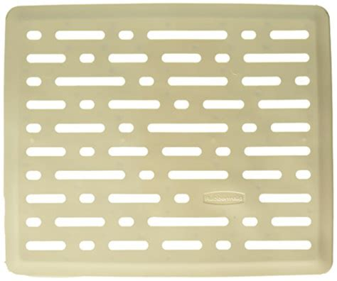 rubbermaid evolution antimicrobial sink mat bisque small
