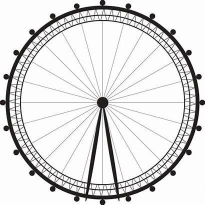 Wheel Clipart Ferris Silhouette London Eye Landmarks