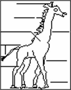 english esl label me printouts enchantedlearningcom With giraffe diagram