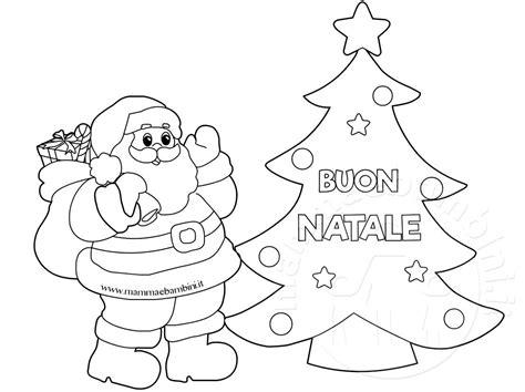 disegni da colorare natale disegno albero con babbo natale da colorare mamma e bambini