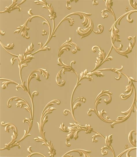 brewster wallpaper sylvia gold ornate scroll wallpaper
