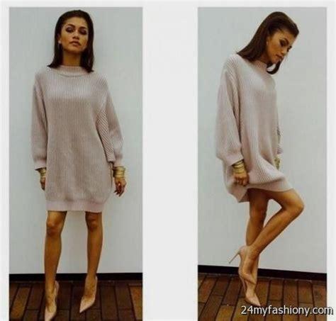 Sweater dress outfits tumblr 2016-2017   B2B Fashion