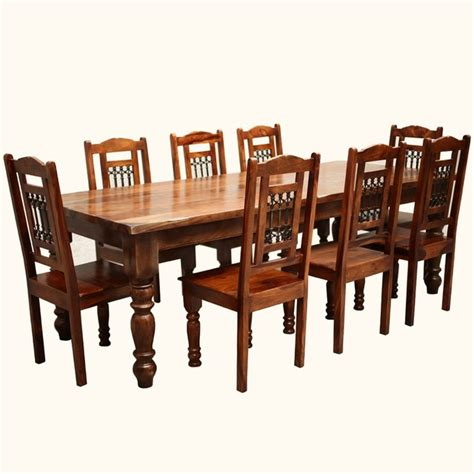 solid wood furniture rustic 8 seater large dining table