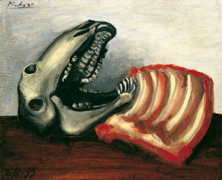 Pablo Picasso Still Life With Sheep Skull Art