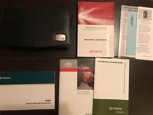 2009 Toyota Highlander Owners Manual With Case Oem Free