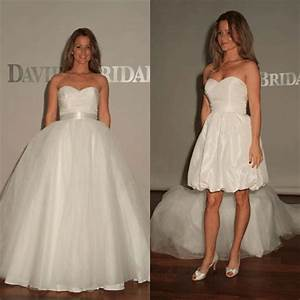 wedding dress of the week david39s bridal reception With detachable wedding dress davids bridal