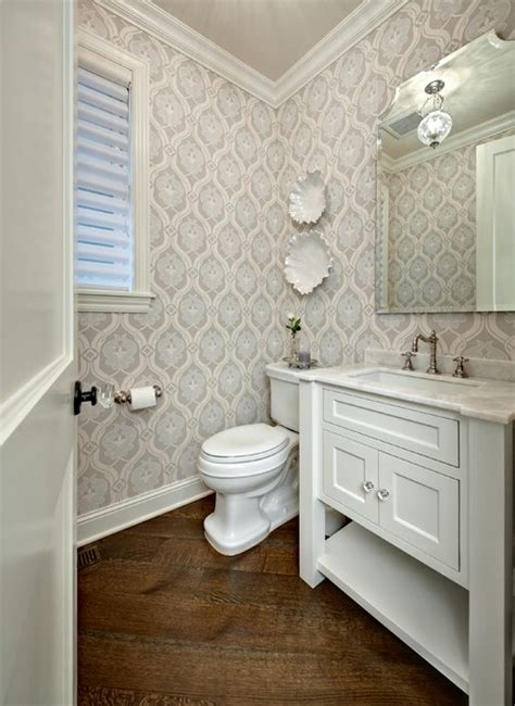 bathroom wallpaper ideas powder room traditional powder room minneapolis by Half