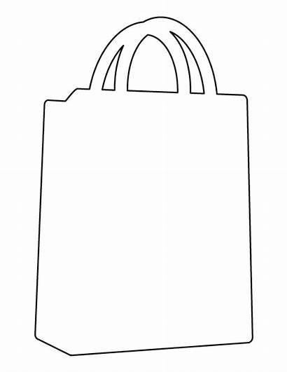 Bag Shopping Pattern Template Printable Templates Patterns