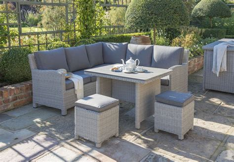 Patio Furniture Uk by Kettler Palma Mini Corner Set White Wash Garden