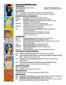 resume wonderbrooks With sample resume for art and craft teacher