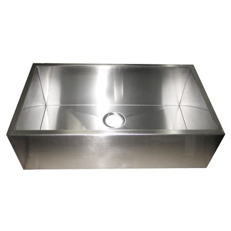 stainless steel apron front kitchen sink 32 inch stainless steel flat front farm apron single bowl 9383