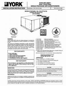 York D3cg090 Installation Instructions Manual Pdf Download