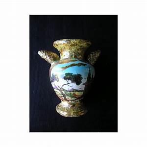 Vase En Céramique : vase en c ramique dor e sign m rieu marseillan plage ~ Teatrodelosmanantiales.com Idées de Décoration