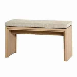 Banc En Chene : petit banc en bois avec coussin brin d 39 ouest ~ Teatrodelosmanantiales.com Idées de Décoration