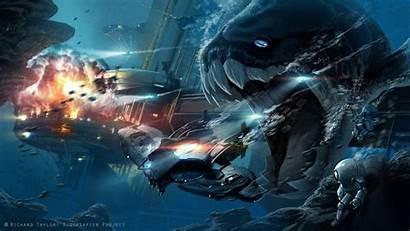Sci Fi Underwater Wallpapers Artwork Monster Monsters
