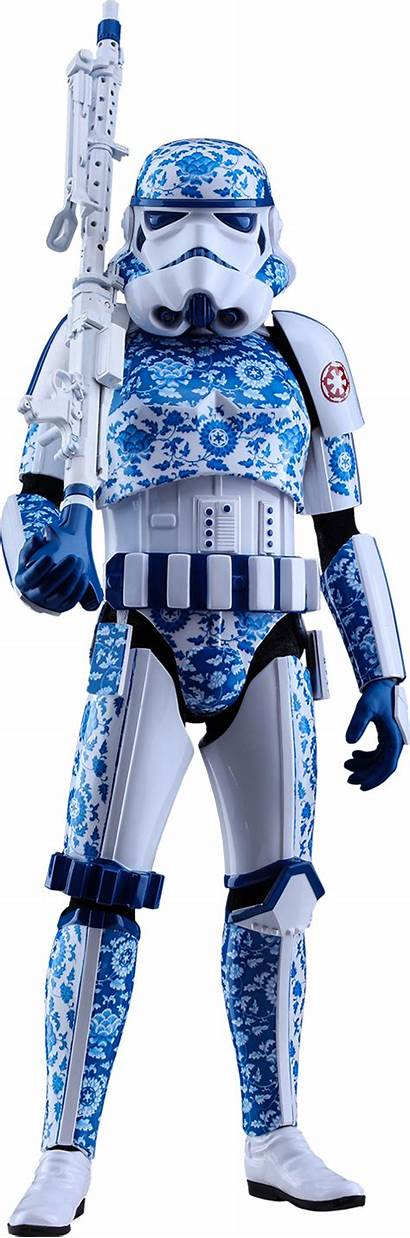 Stormtrooper Wars Star Porcelain Version Pattern Figure