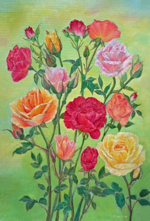 country garden roses card by tereska
