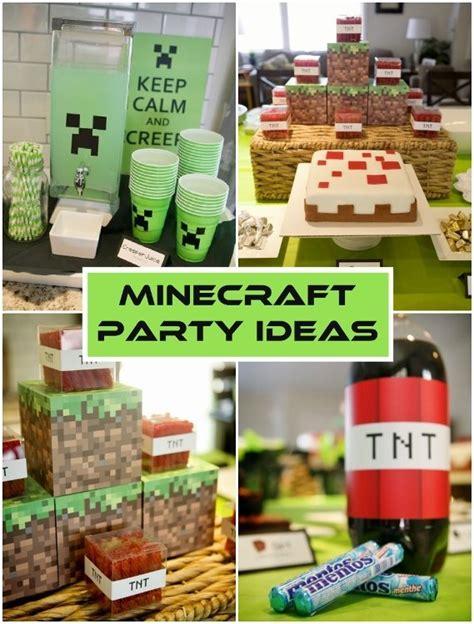 minecraft birthday party ideas diy inspired