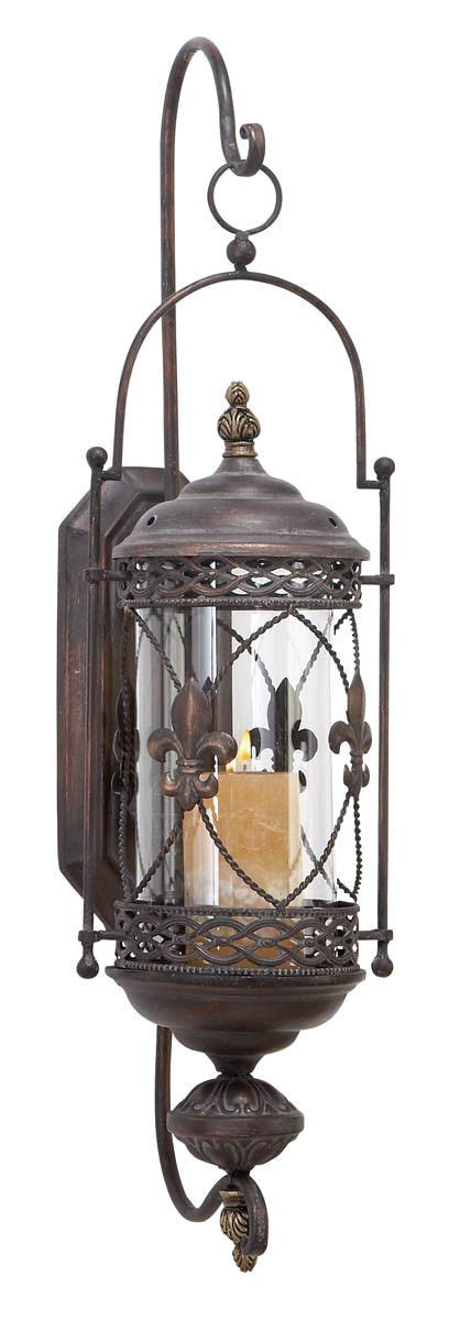 outdoor candle sconces aspire fleur de lis candle lantern metal wall sconce