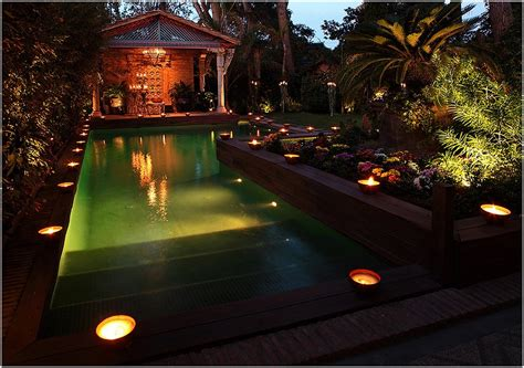 outdoor lighting around swimming pool contemporary outdoor lighting awesome home design