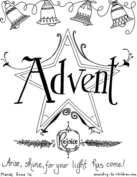 Advent Peace Coloring Page Wwwimgkidcom The Image