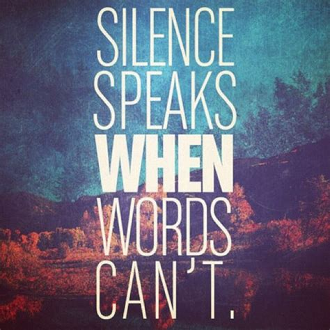 silence quotes  love quotesgram