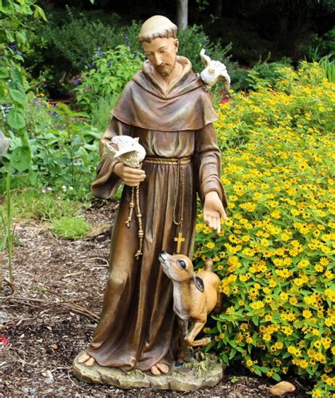 st francis garden statue st francis statue 36 5 inch