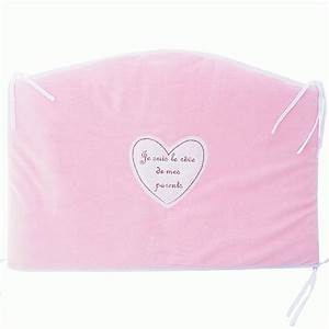 Tour De Lit Rose : tour de lit en velours rose je suis le r ve de mes parents babystock ~ Teatrodelosmanantiales.com Idées de Décoration