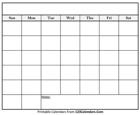 Calender Template Printable Blank Calendar Templates 123calendars